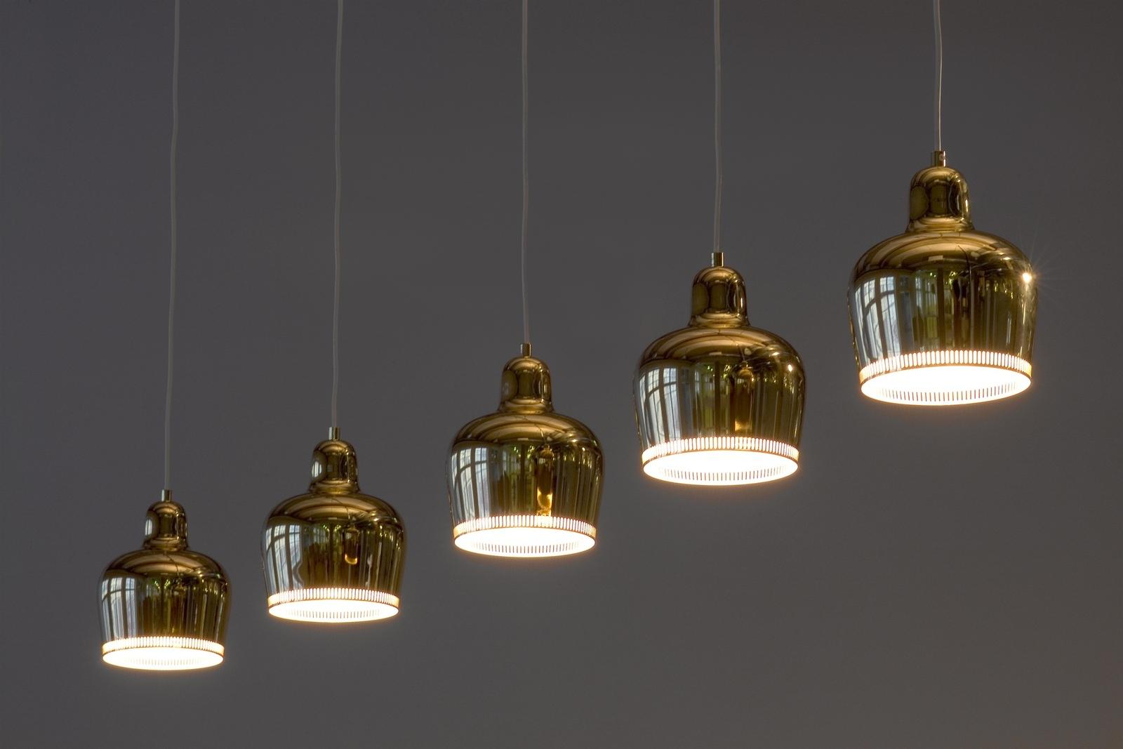 Messing Pendler Lampe - Finsk lampedesign Skandinaviskdesign dk