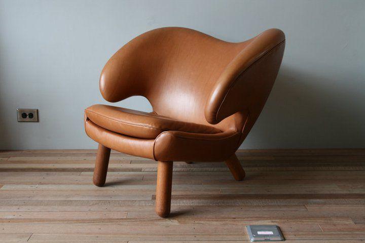 Pelikan stol læder