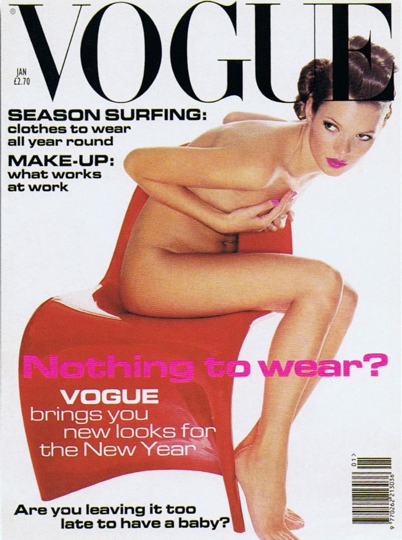 VIDSTE DU AT...Engelsk Vogue, Januar 1995, Pantonstolen og Kate Moss
